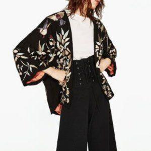 Zara Embroidered Kimono Jacket